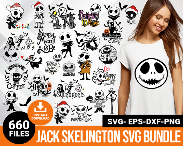 Jack Skelington svg
