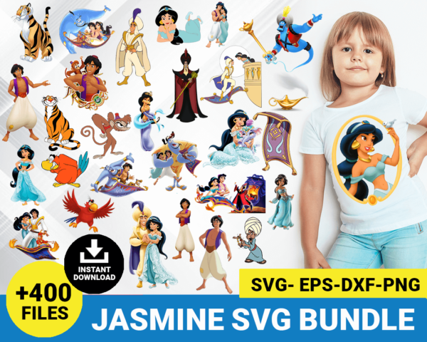 Jasmine and Aladdin svg