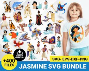 Jasmine and Aladdin svg