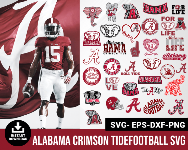 Alabama Crimson Tide svg