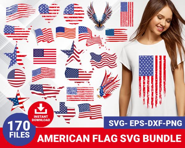 American flag svg