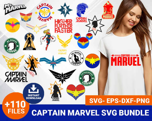 Captain marvel svg