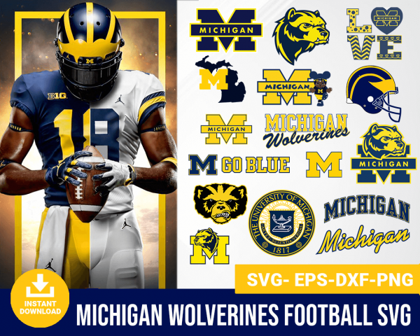 Michigan Wolverines svg