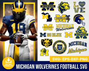 Michigan Wolverines svg
