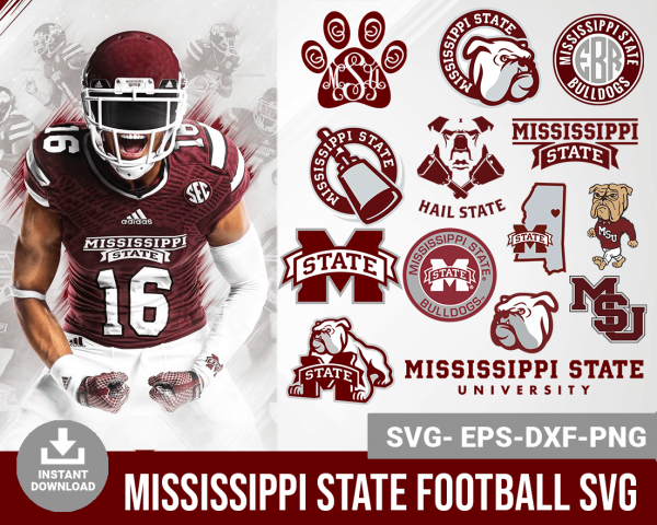 Mississippi State Bulldogs svg