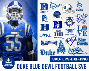 Duke blue devil svg